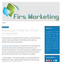 Web Design Trends You Should Do Away With