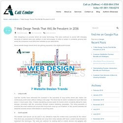7 Web Design Trends That Will Be Prevalent In 2016