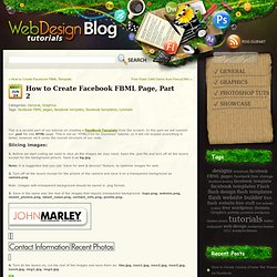 Web Design Tutorials Blog » How to Create Facebook FBML Page, Part 2