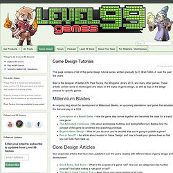 Game Design Tutorials » Level 99 Games