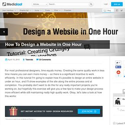 How To Design a Website in One Hour