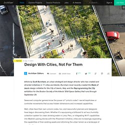 Design With Cities, Not For Them