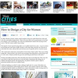 How to Design a City for Women