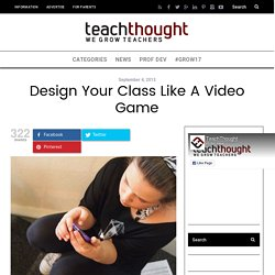 Design Your Class Like A Video Game