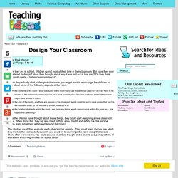 Design Your Classroom