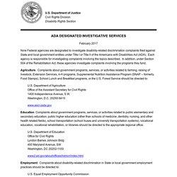 Designated Investigative Services