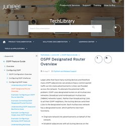 OSPF Designated Router Overview - TechLibrary