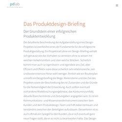 Designbriefing · pdlab ·die innovative Design Agentur aus Stuttgart