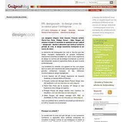 designcode : le design crée de la valeur pour l'entreprise