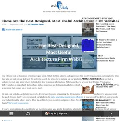 These Are the Best-Designed, Most Useful Architecture Firm Websites