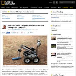 Low-cost Robot Designed for Safe Disposal of Unexploded Ordnance
