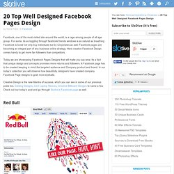 20 Top Well Designed Facebook Pages Design