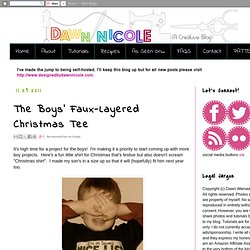 The Boys' Faux-Layered Christmas Tee