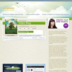 Open Source Templates | Free CSS and XHTML Website Templates