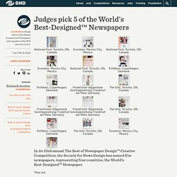 Judges pick 5 of the World's Best-Designed™ Newspapers