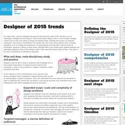 Designer of 2015 trends