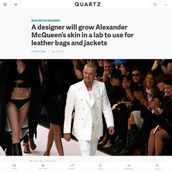 A designer will grow Alexander McQueen's skin in a lab to use for leather bags and jackets — Quartz