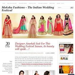 Designer Anarkali Suit For This Wedding Festival Season, its beauty will speak…!