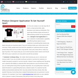 Product Designer Application To Set Yourself Apart