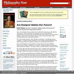 Are Designer Babies Our Future?
