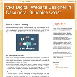 Viva Digital: Website Designer in Caloundra, Sunshine Coast: Improve Your Email Marketing