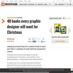 40 books every graphic designer will want for Christmas