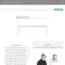 BIANCO, Tables Designer : Claudio Dondoli & Marco Pocci