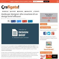 Guida per designer alla creazione di un design brief
