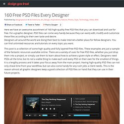 160 Free PSD Files Every Designer
