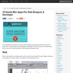 10 Useful Mac Apps For Web Designer & Developer