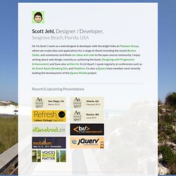 Scott Jehl, Web Designer/Developer, Boston, MA | Website, Web Application, and User Interface Design and Development