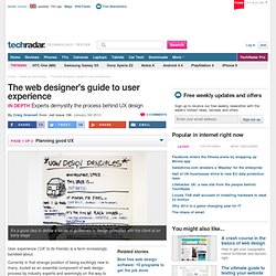 The web designer's guide to user experience