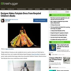 Designer Makes Fairytale Dress From Recycled Children's Books
