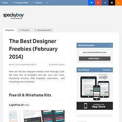 The Best Designer Freebies (February 2014)