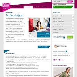 Textile designer job information