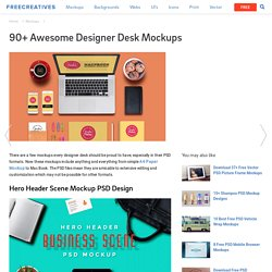 90+ Designer Desk Mockups - PSD, Vector EPS, JPG Download