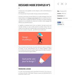 Designer Mode d'emploi N°3