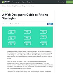 A Web Designer's Guide to Pricing Strategies