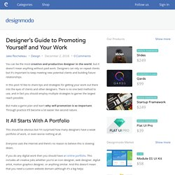 Designer's Guide to Promoting Yourself and Your Work - Designmodo