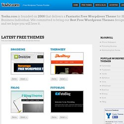 Yoshz - Web Designer Resources | Wordpress Theme
