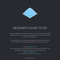 Designer's guide to DPI