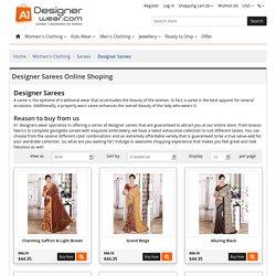 Buy Designer Sarees Online in India