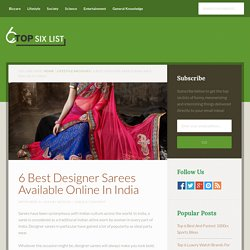 6 Best Designer Sarees Available Online In India