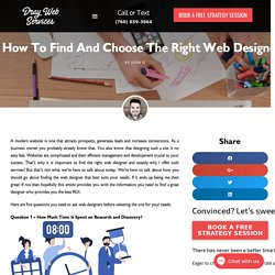 How to Find and Choose the Right Web Designer