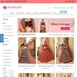 Lehenga Choli - Buy Designer Lehenga Choli Online Uk Shopping At Shopkund,