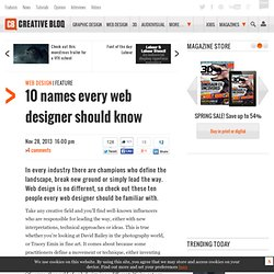 10 names every web designer should know