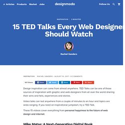 15 TED Talks Every Web Designer Should Watch