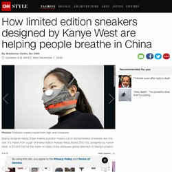 Chinese designer turns sneakers into pollution masks