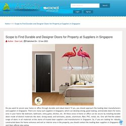 Scope to Find Durable and Designer Doors for Property at Suppliers in Singapore