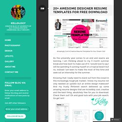 20+ Awesome Designer Resume Templates for Free Download